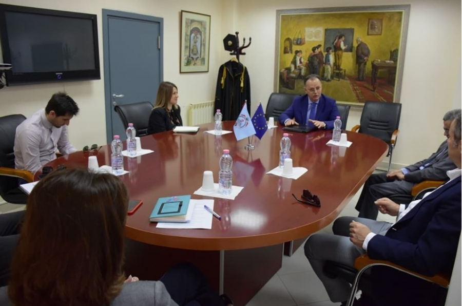 "Visit in the framework of institutional re-accreditation of the University of Elbasan ""Aleksandër Xhuvani"""